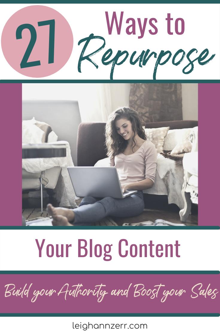 ways to repurpose blog
