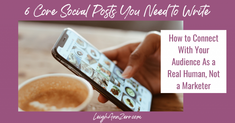 6 Core Social Posts You Need to Write